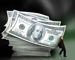 Man holding up money, PORTSIDE Finance lends money